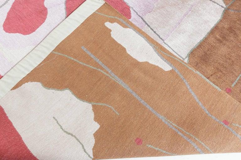 Art Deco Doris Leslie Blau Collection Dhalia Silk Rug For Sale