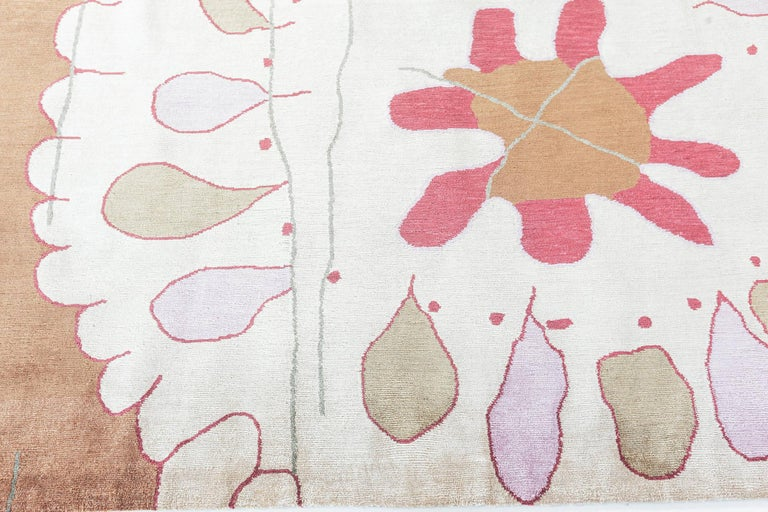 Doris Leslie Blau Collection Dhalia Silk Rug In New Condition For Sale In New York, NY