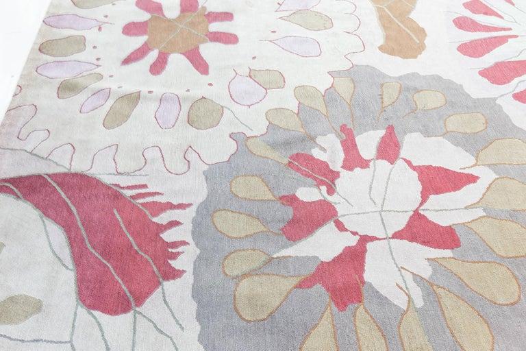 Contemporary Doris Leslie Blau Collection Dhalia Silk Rug For Sale