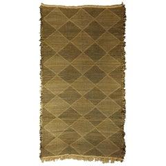 Doris Leslie Blau Collection Diamond Shaped Brown, Beige Flat-Weave Rug