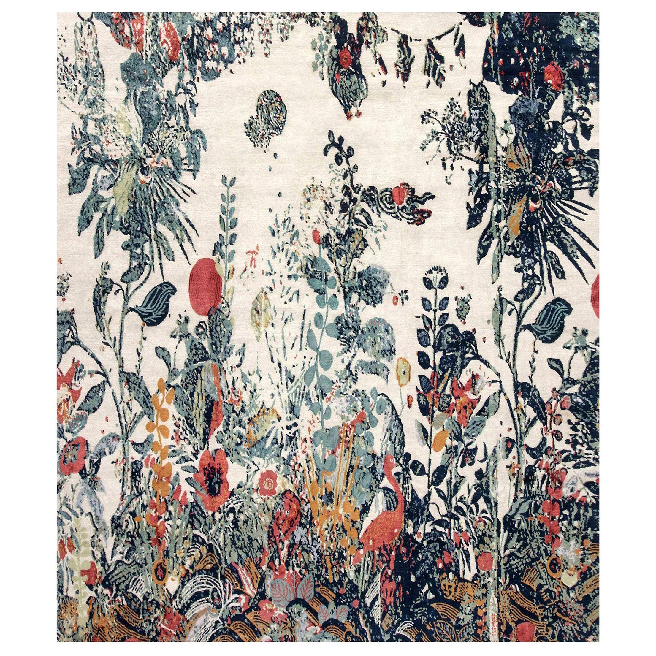 Doris Leslie Blau Collection Efflorescence Handmade Silk and Wool Rug