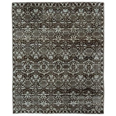 Doris Leslie Blau Collection European Inspired Tibetan Brown and White Wool Rug