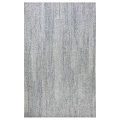 Doris Leslie Blau Collection Flat-Weave Wool Rug in Blue and White Shades