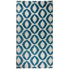 Doris Leslie Blau Collection Modern Mandorla Rug with Hand-carved Silk Design
