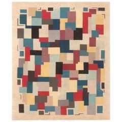Doris Leslie Blau Collection Geometric Aubusson Design Rug