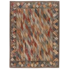 Doris Leslie Blau Collection Geometric European Inspired Aubusson Rug