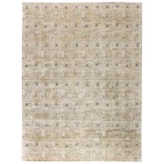 Doris Leslie Blau Collection Geometric 'Maze' Hand Knotted Silk Rug