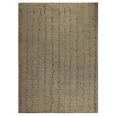 Doris Leslie Blau Collection Geometric Moroccan Style Beige & Brown Wool Rug