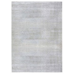 Doris Leslie Blau Collection Hand-Knotted Camellia Rug in Ivory Silk