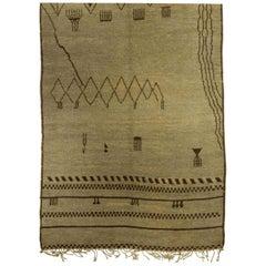 Doris Leslie Blau Collection Handmade Moroccan Wool Rug with Tribal Design