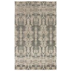 Doris Leslie Blau Collection Handmade Silk and Wool Rug in Gray Shades