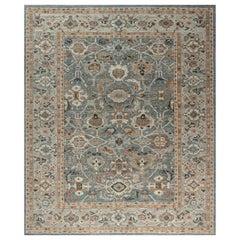 Doris Leslie Blau Collection Inspired Sultanabad Rug in Beige, Blue, Brown, Gray