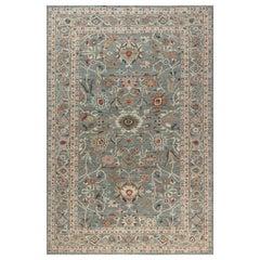 Doris Leslie Blau Collection Inspired Sultanabad Rug in Beige, Blue, Brown, Pink