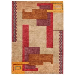 Doris Leslie Blau Collection Ivan Da Silva-Bruhns Art Deco Inspired Rug