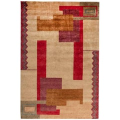 Doris Leslie Blau Collection Ivan Da Silva-Bruhns Inspired Large Art Deco Rug