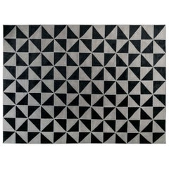 Doris Leslie Blau Collection Magic Rug in Black and Gray