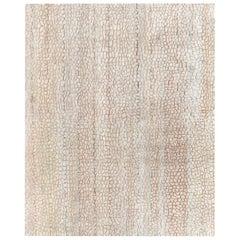 Doris Leslie Blau Collection Modern Abstract Camel Ivory Handmade Wool Silk Rug