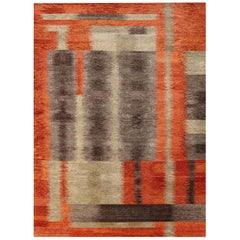 Doris Leslie Blau Collection Modern Alfonsina-Rustic Hand Knotted Wool Rug