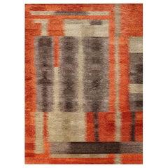 Doris Leslie Blau Collection Modern Alfonsina-Rustic Handmade Wool Rug
