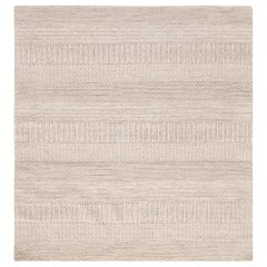 Doris Leslie Blau Collection Modern Beige and Gray Flat-Weave Wool Rug