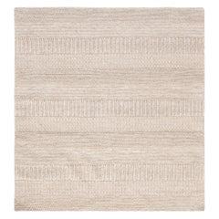 Doris Leslie Blau Collection Modern Beige, Gray Flat-Weave Wool Rug