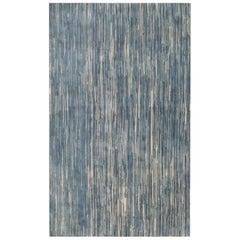 Doris Leslie Blau Collection Modern Blue Handmade Wool Rug