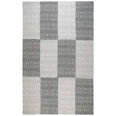 Doris Leslie Blau Collection Modern Chessboard Pattern Flat-Weave Wool Rug