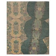 Doris Leslie Blau Collection Modern Eskayel Jangala Abstract Green Hemp Rug