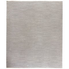 Doris Leslie Blau Collection Modern Flat-Weave Wool Carpet in Blue and White