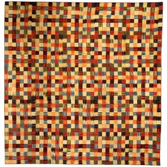 Doris Leslie Blau Collection Modern Geometric Design Handmade Cotton Rug