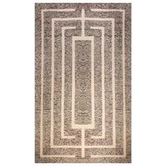 Doris Leslie Blau Collection Modern Gray, Brown & Beige Monumental Geometric Rug