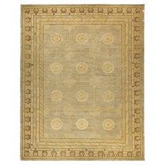 Doris Leslie Blau Collection Modern Ja6 Samarkand Gold, Brown, Beige Wool Rug