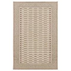 Doris Leslie Blau Collection Modern Needlepoint Wool Rug by Arthur Dunnam