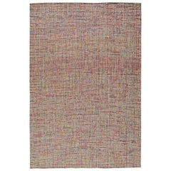 Doris Leslie Blau Collection Modern Rug in Shades of Pink, Gray, Green and Brown