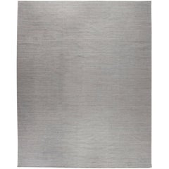 Doris Leslie Blau Collection Modern Solid Kilim Brown, Gray Flat-Weave Rug