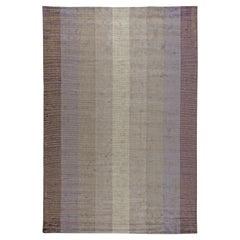 Doris Leslie Blau Collection Modern Striped Valeno Grid Rug