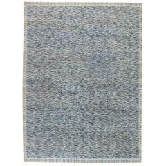 Doris Leslie Blau Collection Modern Swedish Design Blue Handmade Wool Pile Rug