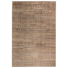 Doris Leslie Blau Collection Modern Tibetan 'Shadows' Rug in Mauve and Brown