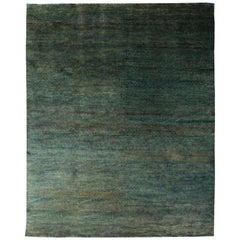 Doris Leslie Blau Collection Modern Water-Sedge Green Handwoven Hemp Rug