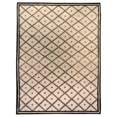 Doris Leslie Blau Collection Moroccan Beige and Black Handmade Wool Rug