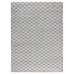 Doris Leslie Blau Collection Moroccan Geometric Black & White Handmade Wool Rug