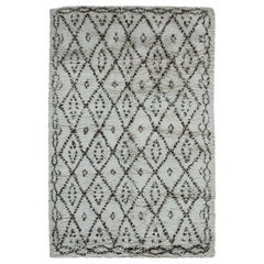 Doris Leslie Blau Collection Moroccan Wool Rug with Geometric Tribal Design