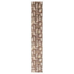 Doris Leslie Blau Collection Narrow & Long Geometric Wool & Silk Runner