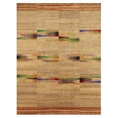 Doris Leslie Blau Collection Navajo-Sand Geometric Handmade Wool and Silk Rug