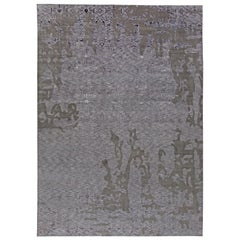 Doris Leslie Blau Collection Oversized Contemporary Handmade Wool & Silk Rug