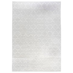 Doris Leslie Blau Collection Oversized Contemporary Rug in Gray Wool