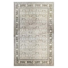 Doris Leslie Blau Collection Oversized Oushak Style Rug in Beige, Brown and Gray