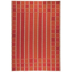 Doris Leslie Blau Collection Oversized Swedish Flat-Woven Rug in Red and Orange