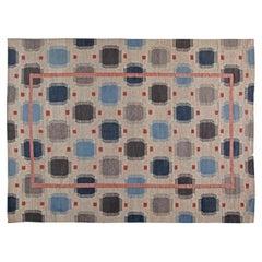 Doris Leslie Blau Collection Oversized Swedish Style Geometric Wool Rug