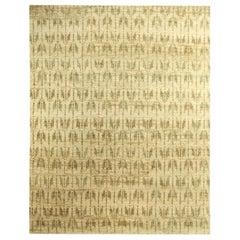Doris Leslie Blau Collection Quiver Beige and Olive Hemp Rug by Bunny Williams